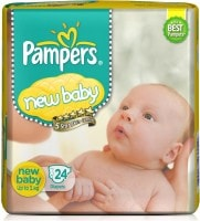 Pampers Active Baby Diapers (24 PCS, NB)