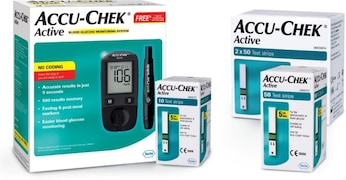 Accu-Chek Active Glucometer (160 Strips, Multicolor)