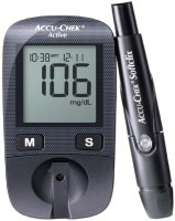 Accu-Chek Active Glucometer (20 Strips, Black)