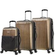 Olympia Aerolite II Spinner Luggage (Brown, Pack of 3)
