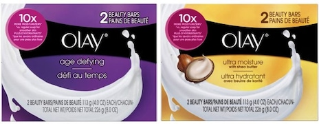 Olay Age Defying + Ultra Moisture Beauty Bar Soap (Pack of 4)