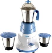 Boss Alltime 500W Mixer Grinder (Blue & White, 3 Jar)