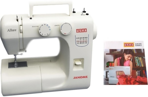 Usha Allure Electric Sewing Machine (White)