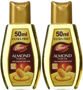 Dabur Almond Hair Oil (250ML, Pack Of 2)