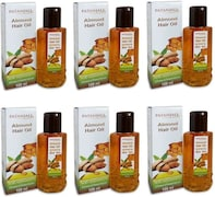 Patanjali Almond Hair Oil (100ML, Pack of 6)