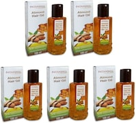Patanjali Almond Hair Oil (100ML, Pack of 5)