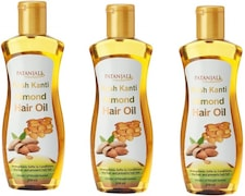 Patanjali Almond Hair Oil (200ML, Pack of 3)