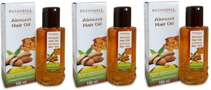 Patanjali Almond Hair Oil (100ML, Pack of 3)