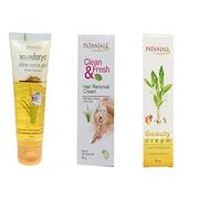 Patanjali Aloe Vera Gel Kesar Chandan & Hair Removal Cream