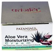Patanjali Aloe Vera Moisturizing Cream (50GM, Pack of 2)