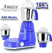 Jusal Amaze 600W Mixer Grinder (Blue, 3 Jar)
