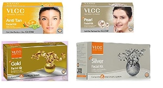 VLCC Anti-Tan, Gold, Silver, Pearl Face Mask (150GM, Pack of 2)