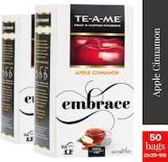 TE-A-ME Apple Cinnamon Infusion Tea (50GM, Pack of 2, 50 Pieces)