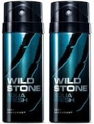 Wild Stone Aqua Fresh Deodorant Spray (Pack of 2)
