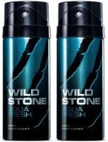 Wild Stone Aqua Fresh Deodorant Spray (Pack of 2)