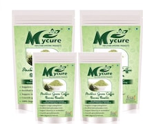 MyCure Arabica Green Beans Powder Coffee (Green, 400GM, Pack of 4, 400 Pieces)