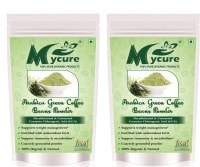 MyCure Arabica Green Beans Powder Coffee (Green, 400GM, Pack of 2)