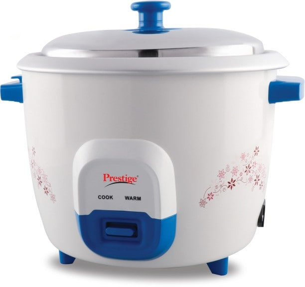 Prestige Atlas Delight 1.8 L Rice Cooker (White & Blue)