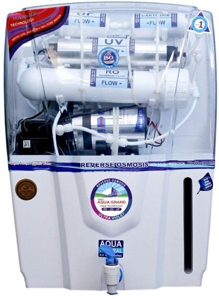 Aqua Grand Audy 12L RO+UV+UF+TDS Water Purifier (White)