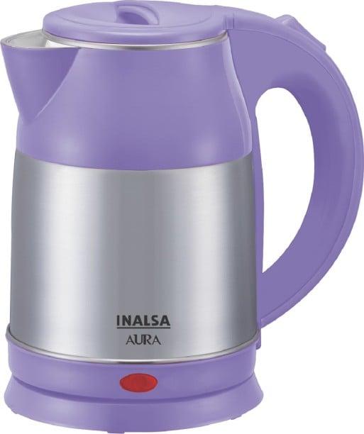 Inalsa Aura 1.8 L Electric Kettle (Purple & Silver)
