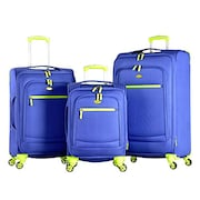 Olympia Aurora Spinner Luggage (Purple, Pack of 3)