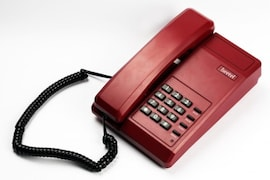 Beetel B11 Corded Landline Phone (Red)