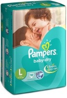 Pampers Baby Dry Diapers (18 PCS, L)