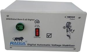 Rahul Base-2A Digital Voltage Stabilizer (Grey)