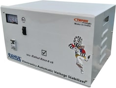 Rahul Base-6 C6 Automatic Voltage Stabilizer (Grey)