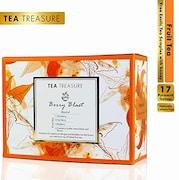 TeaTreasure Berry Blast Fruit Tea (100GM, 18 Pieces)