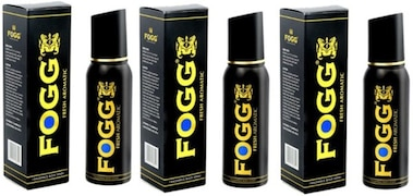 Fogg Black Collection Fresh Aromatic Deodorant Spray (120ML, Pack of 3)