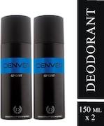 Denver Blue Sport Body Spray (300ML, Pack of 2)