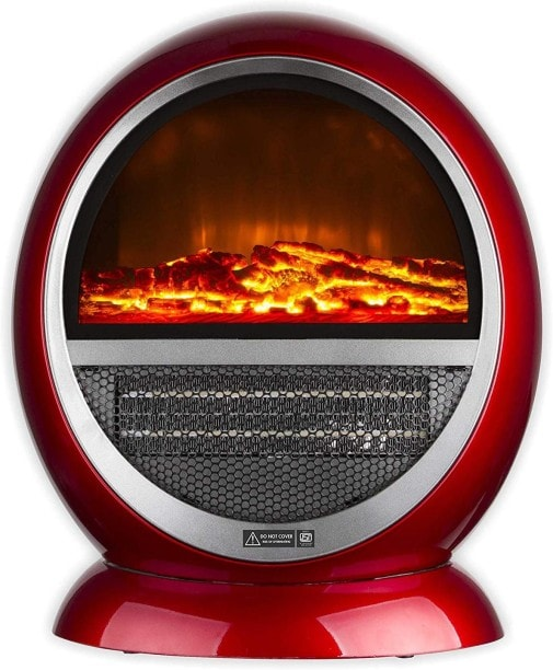 Warmex Bonfire Fan Room Heater (Maroon)