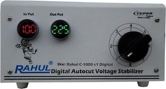 Rahul C-1000 C Digital Autocut Voltage Stabilizer (Smook Grey)