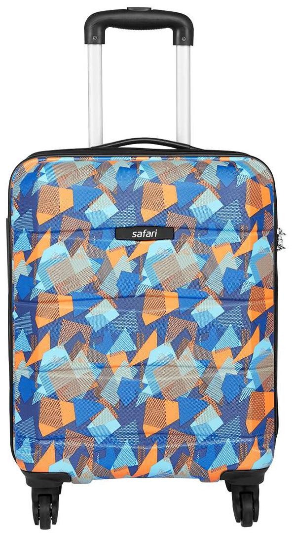 Safari Camo Printed Trolley Luggage (22 Inch, Multicolor)