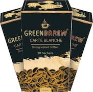 GreenBrrew Carte Balanche Coffee (Green, 60GM, Pack of 3)