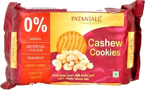 Patanjali Cashew Cookies (200GM, Pack of 7)
