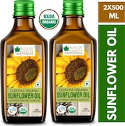 Bliss of Earth Certified Organic Sunflower Oil (1LTR, Pack of 2)
