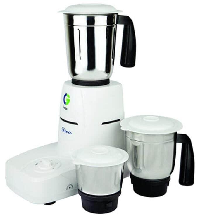 Crompton CG-DS51 500W Mixer Grinder (White, 3 Jar)