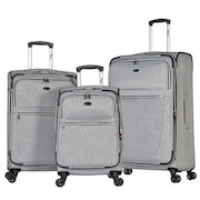 Olympia Chandler Spinner Luggage (Grey, Pack of 3)