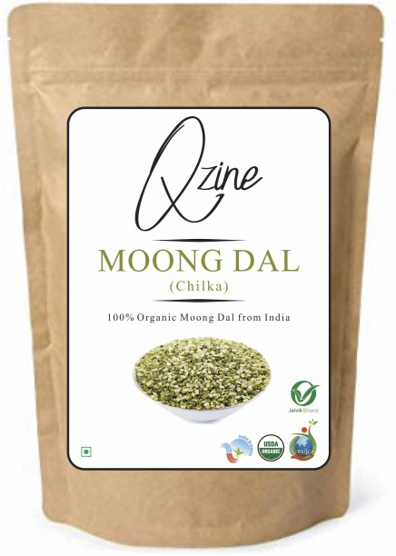 Qzine Chilka Moong Dal (Green, 3KG)