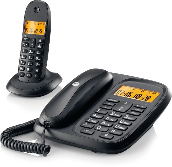 Motorola CL101 Corded Landline Phone (Black)