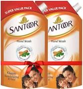 Santoor Classic Sandalwood & Tulsi Hand Wash (1ML)