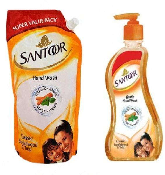Santoor Classic Sandalwood & Tulsi Hand Wash (750ML, Pack of 2)