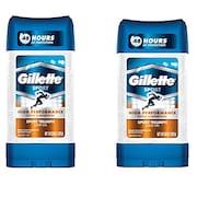 Gillette Clear Gel Sport Triumph Anti-Perspirant Deodorant (107GM, Pack of 2)