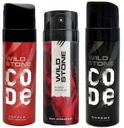 Wild Stone Code Chrome Deodorant (120ML, Pack of 3)