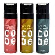 Wild Stone Code Copper Deodorant Spray (360ML, Pack of 3)