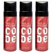 Wild Stone Code Copper No Gas Deodorant (120ML, Pack of 3)