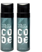 Wild Stone Code Steel Body Perfume Set (120ML, Pack of 2)