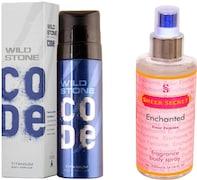 Wild Stone Code Titanium Deodorant Spray (120ML, Pack of 2)